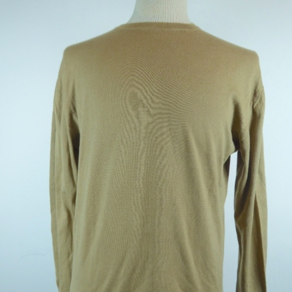 Barneys New York Other - BARNEYS cotton crewneck sweater camel brown L